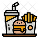 Fastfood Burger Frenchfires Icon
