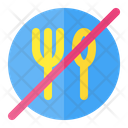 Warning Eat Forbidden Icon