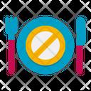 Fasting No Food Delicious Icon