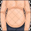 Fat Fat Body Fat Man Icon