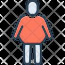 Fat Person Body Icon