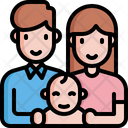 Father Woman Baby Icon