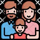 Father Woman Boy Icon