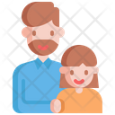 Father Girl Parents Icon