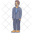 Father Hipster Person Icon