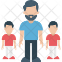 Father Toddlers Children Icon
