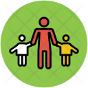 Father With Kids Icon