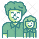 Father And Daughter Family Child Icon