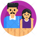 Father And Daughter Icon