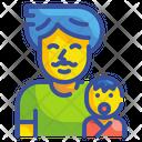 Father And Kid Fatherhood Dad Icon