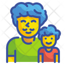 Father And Son Family Man Icon