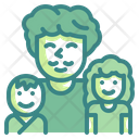 Father And Son Family Children Icon