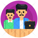 Father And Son Dad With Son Father Job Icon