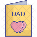 Father Card Father Letter Fathers Day Icon