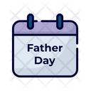 Father Day Calendar Date Icon