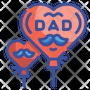 Father Day Balloon Balloon Heart Icon