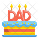Father Day Cake Icon