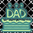 Father Day Cake Cake Birthday Icon