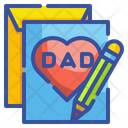 Father Day Card Card Letter Icon