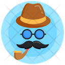 Father Day Dad Logo Hat Icon