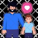 Father Son Bonding Fatherhood Father Love Icon