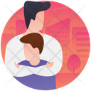 Fatherhood Caring Father Parenthood Icon