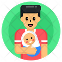 Dad With Baby Father Dad Icon