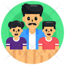 Fatherhood Father With Children Dad With Kids Icon