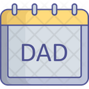 Appointment Calendar Fathers Day Icon