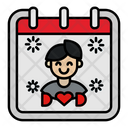 Fathers Day Calendar Icon
