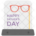 Fathers Day Greeting Icon