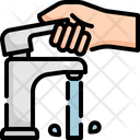 Faucet Open Hand Icon