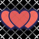 Favorite Heart Shape Hearts Icon