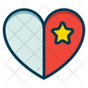 Favorite Heart Star Icon