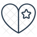 Favorite Heart Star Icon