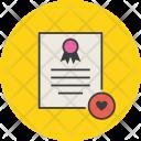 Favorite Popular Certificate Icon