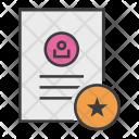 Favorite Important Document Icon