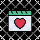 Favorite Calendar Heart Icon