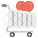 Favourite Cart Shopping Time Grocery Cart Icon