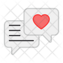 Favorite Chat Heart Chat Love Chat Icon