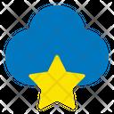 Stars Cloud User Interface Icon