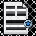 Favorite Document Favorite File File Icon