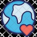 Earth Favorite Heart Icon