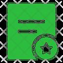 File Favorite Circle Favorite Bookmark Icon