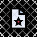 File Document Starred Icon