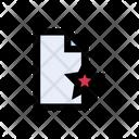 Favorite File Starred Icon