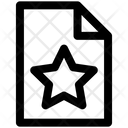 Favorite Paper Document Icon