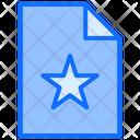 Favorite File File Document Icon
