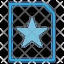 Favorite File Favorite Bookmark Icon