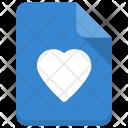 Favorite File Heart Icon